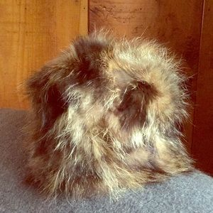 Adrienne Landau Raccoon Fur Hat
